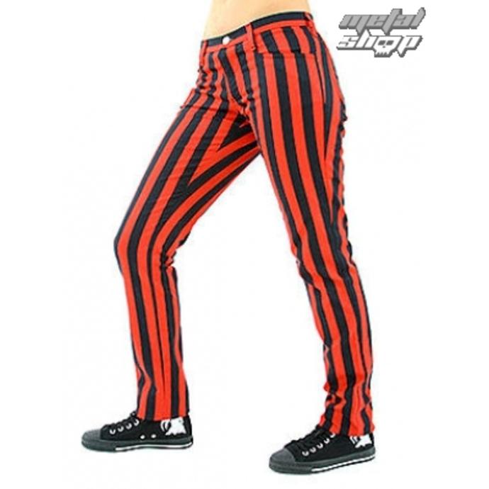kalhoty dámské Black Pistol - Close Pants Stripe Black/Red