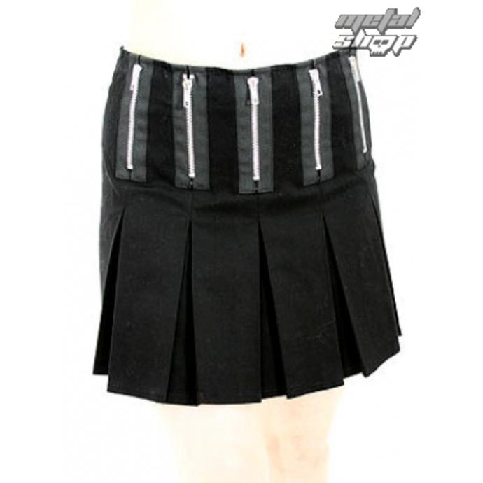 sukně dámská Black Pistol - Zipper Mini Denim (Black)