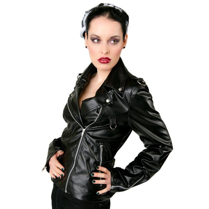 bunda dámská (křivák) Black Pistol - Biker Jacket Sky Black
