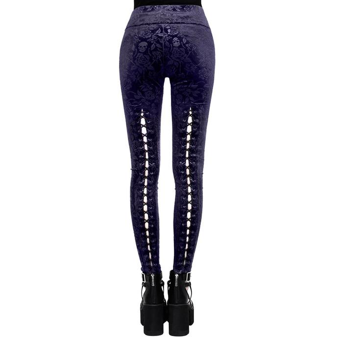 kalhoty dámské (legíny) KILLSTAR - Bite Me - PLUM