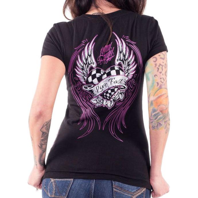 tričko dámské LETHAL THREAT - PINK RACE HEART