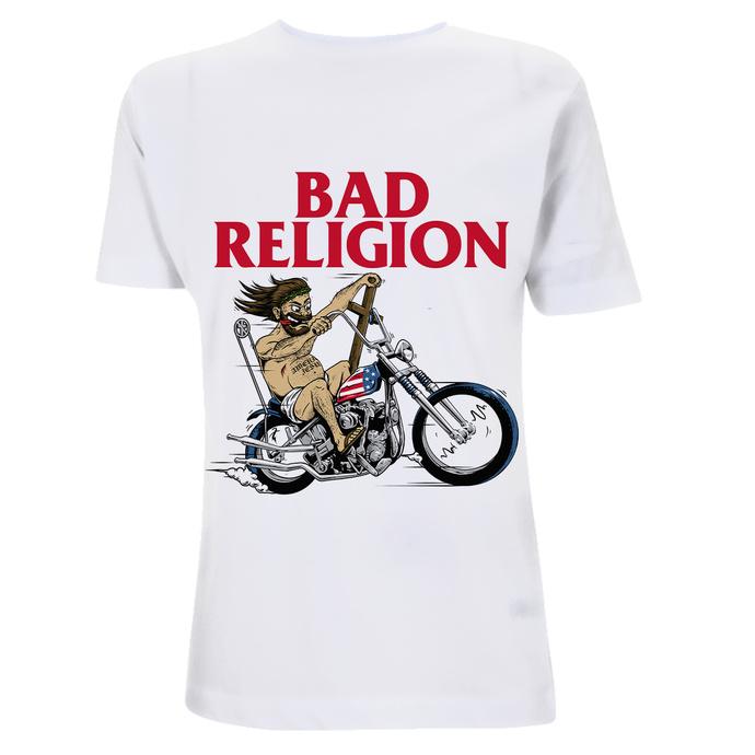 tričko pánské Bad Religion - American Jesus -White Heavy