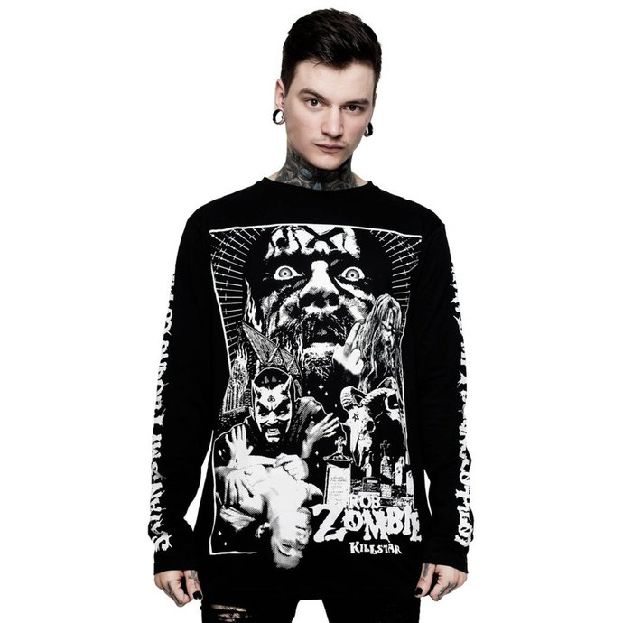 tričko pánské s dlouhým rukávem KILLSTAR - Rob Zombie - Co-Pilot - BLACK