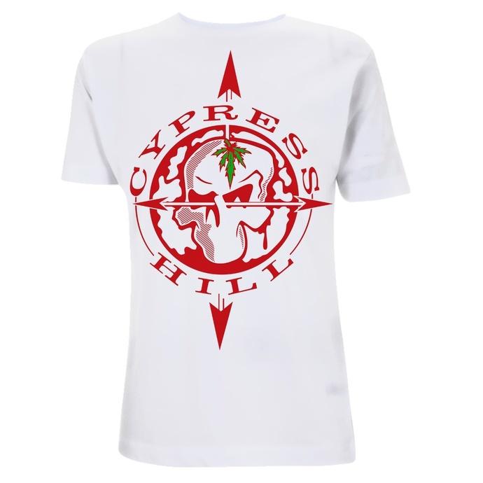 tričko pánské Cypress Hill - Skull Compass - White