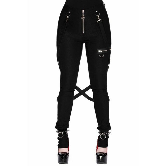 kalhoty dámské KILLSTAR - Def Leopard - BLACK