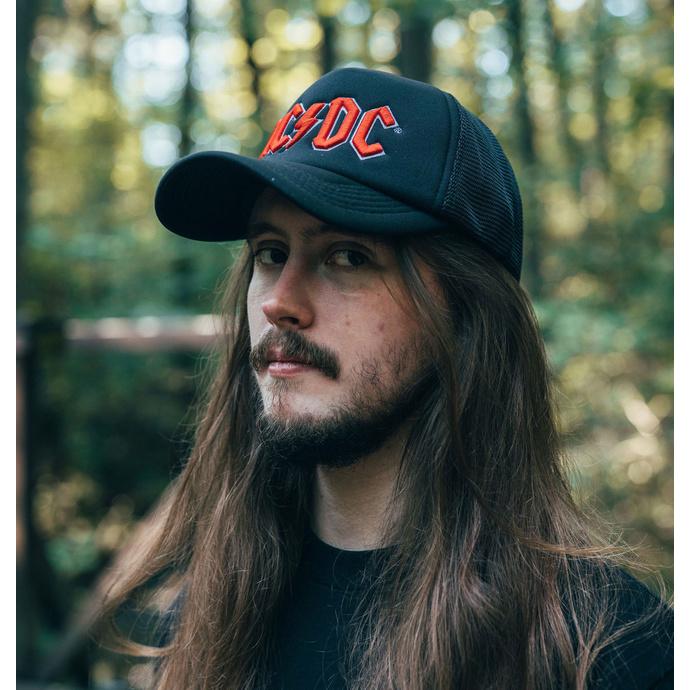 kšiltovka AC/DC - Red Logo Black - ROCK OFF