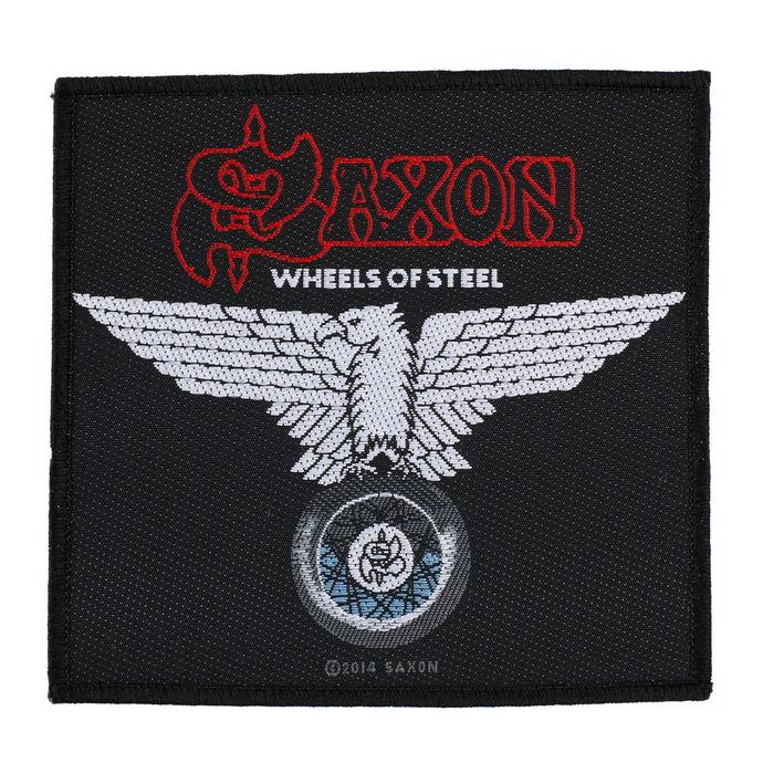 nášivka SAXON - WHEELS OF STEEL - RAZAMATAZ