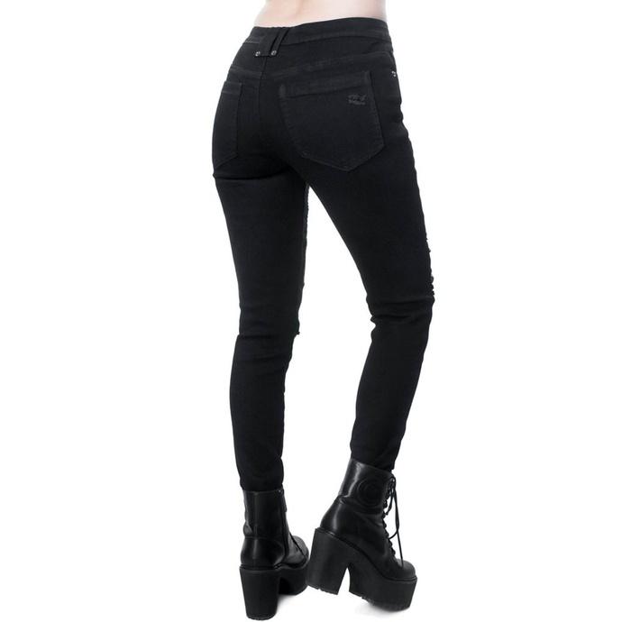 kalhoty dámské KILLSTAR - Forsaken Jeans - BLACK