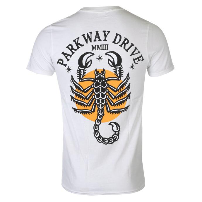 tričko pánské Parkway Drive - Scorpio - White - KINGS ROAD
