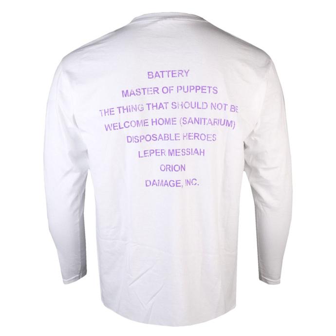 tričko pánské s dlouhým rukávem Metallica - MOP - White