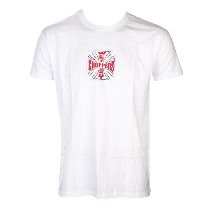 tričko pánské WEST COAST CHOPPERS - CROSS - Solid White