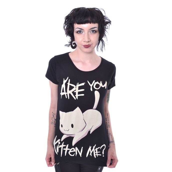 tričko dámské Cupcake Cult - KITTEN ME - BLACK