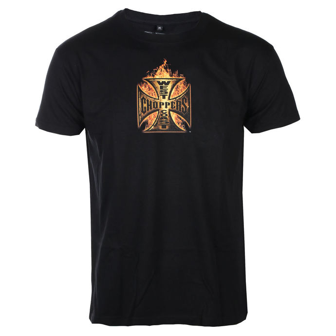 tričko pánské WEST COAST CHOPPERS - IN FLAMES - Solid Black