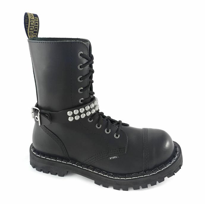 postroj na botu Leather boot strap whith rivets - bubble 2