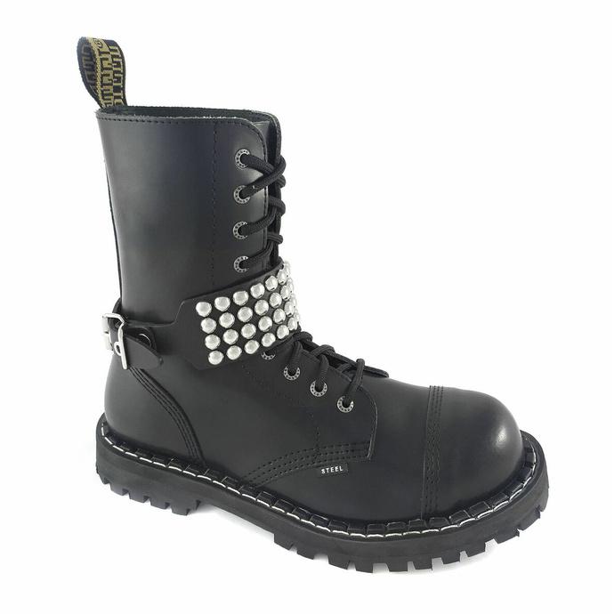 postroj na botu Leather boot strap whith rivets - bubble 4