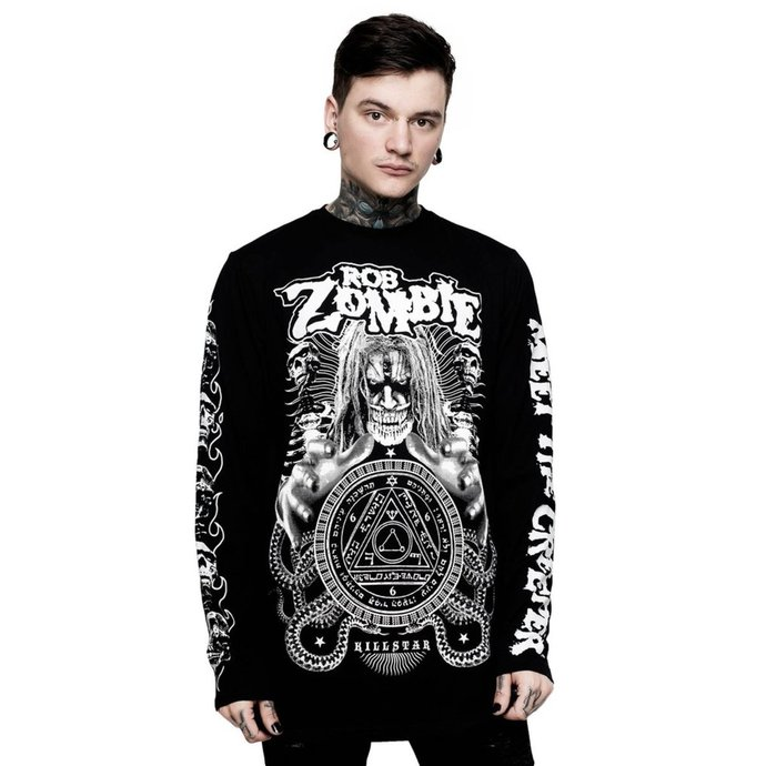 tričko pánské s dlouhým rukávem KILLSTAR - Rob Zombie - Magick - BLACK