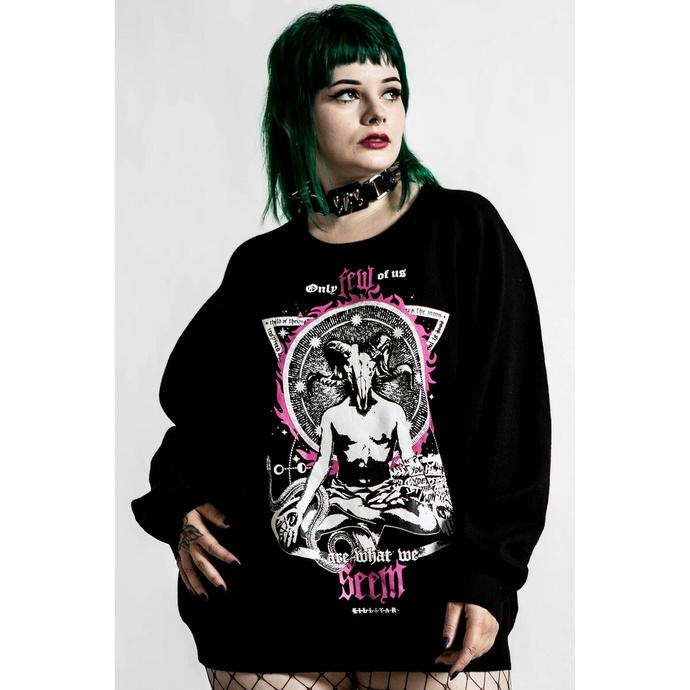 svetr dámský KILLSTAR - Meditate Batwing - black
