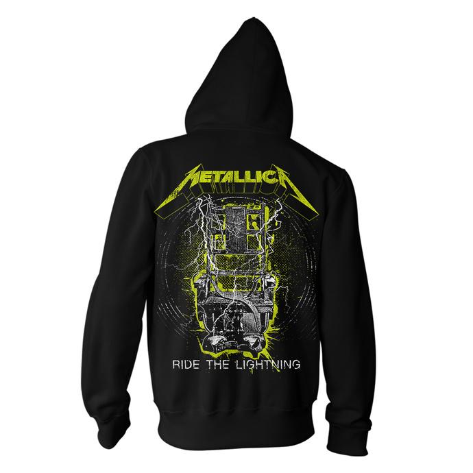 mikina pánská Metallica - Splatter Lightning - Black
