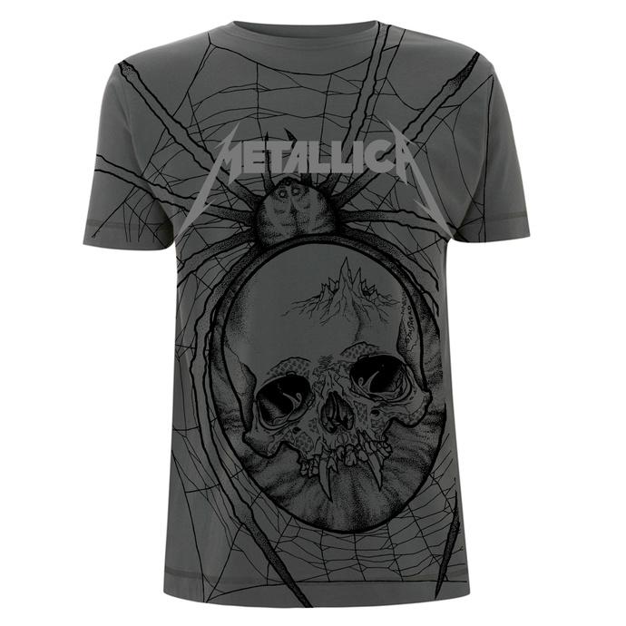tričko pánské Metallica - Spider - Charcoal
