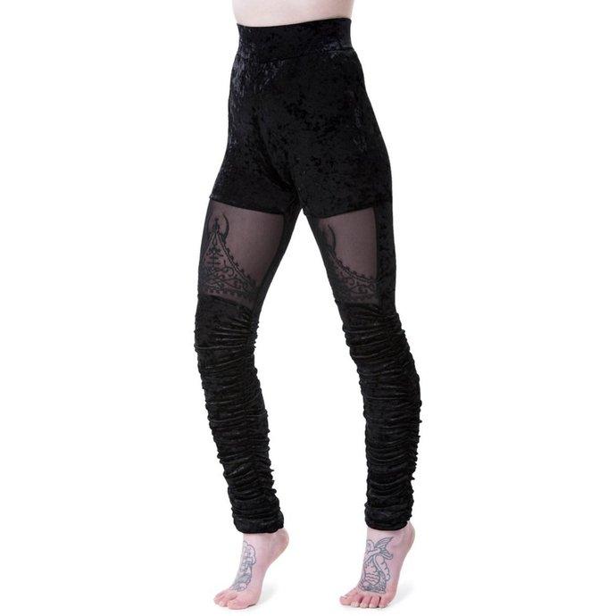 kalhoty dámské (legíny) KILLSTAR - NIGHTSHADE VELVET - BLACK