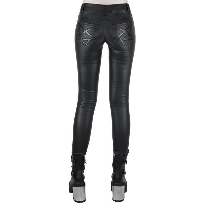 kalhoty dámské KILLSTAR - Nocturnal Coated Jeans - BLACK