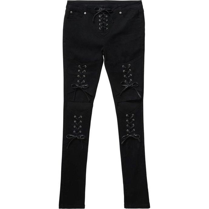 kalhoty dámské KILLSTAR - PHASED OUT JEANS - BLACK