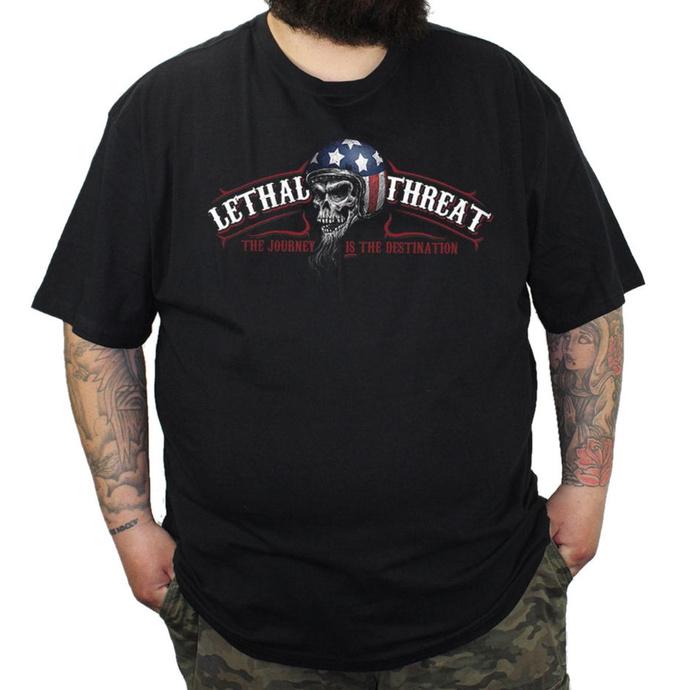 tričko pánské LETHAL THREAT - RIDE HARD - Black