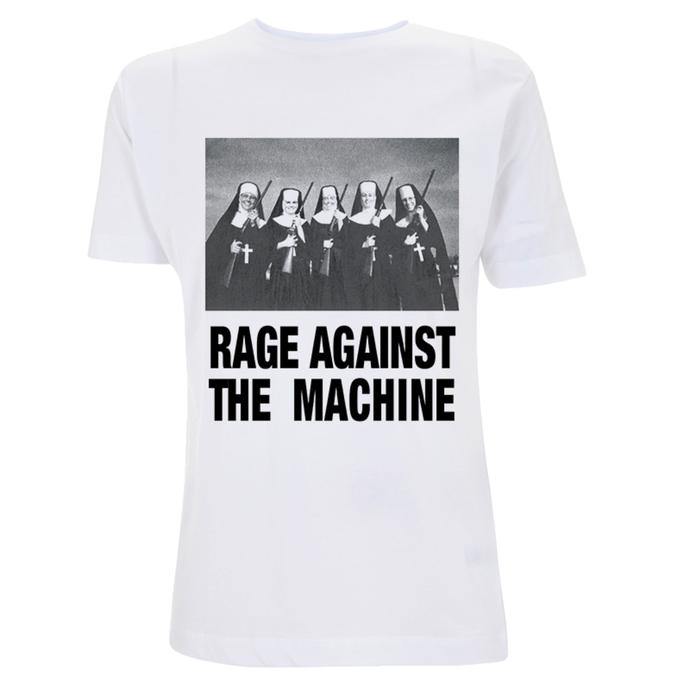 tričko pánské Rage Against The Machine - Nuns And Guns - White
