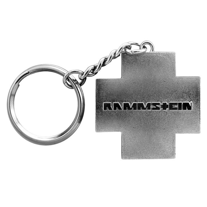 klíčenka (přívěšek) RAMMSTEIN -  Logo Schlüsselanhänger - grey