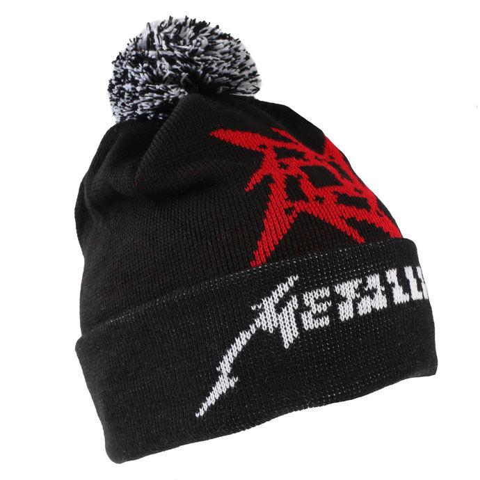 kulich Metallica - Glitch Star Logo - Black Woven Bobble