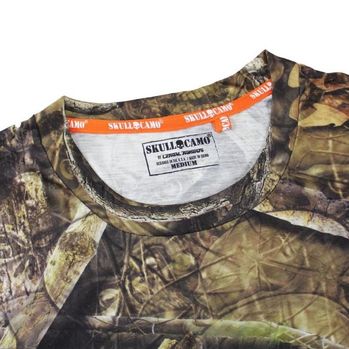 tričko pánské LETHAL THREAT - BACKWOODS - SKULL CAMO