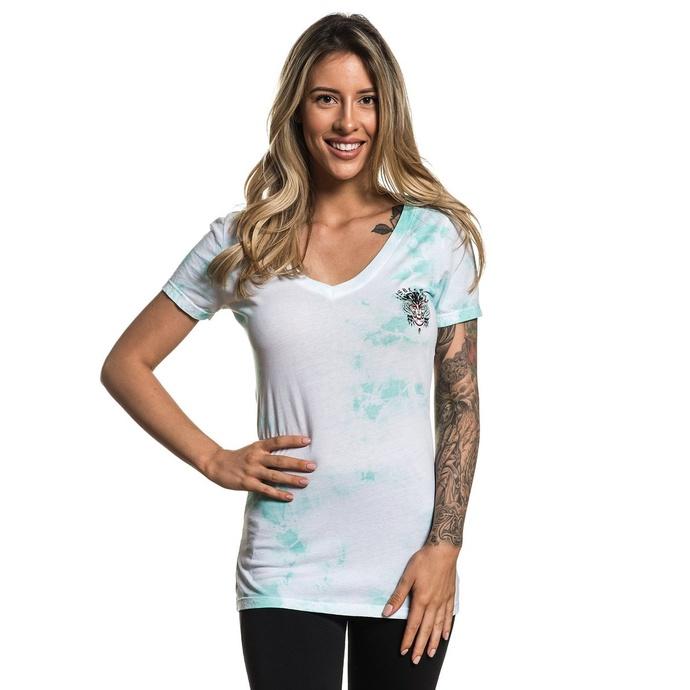 tričko dámské SULLEN - ARTICO - WHITE/TEAL