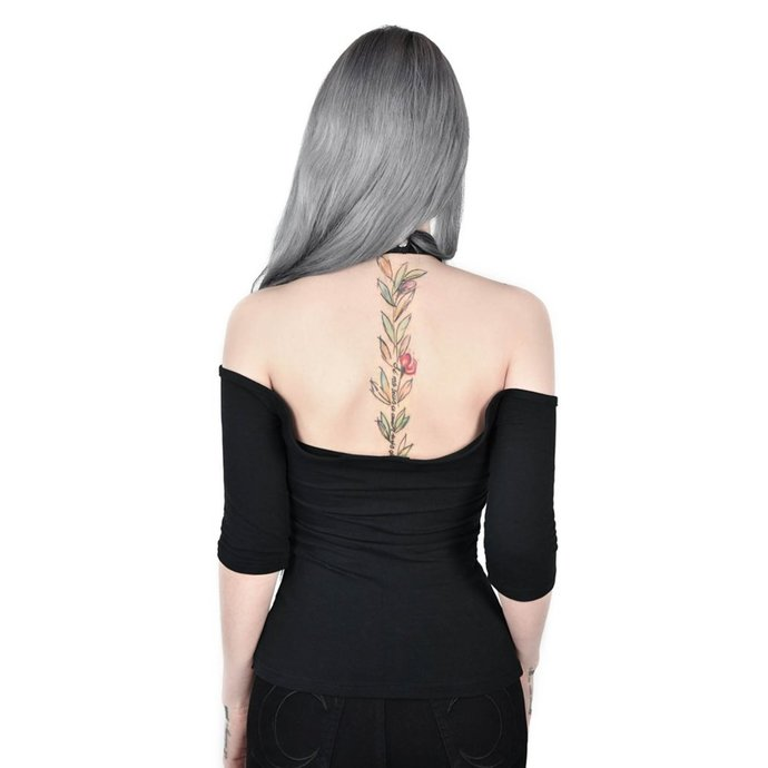 tričko dámské (top) KILLSTAR - SERAPHINA CHOKER - BLACK