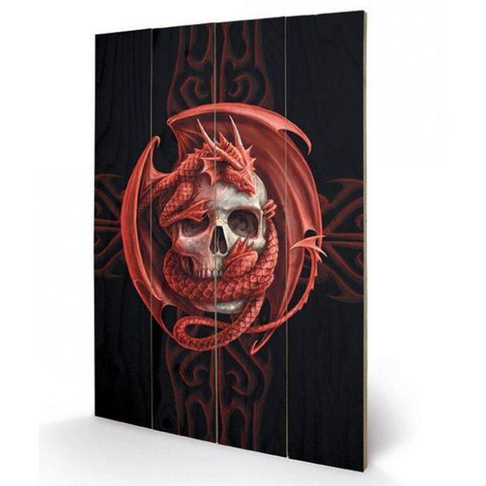 dřevěný obraz ANNE STOKES - (Skull Embrace)