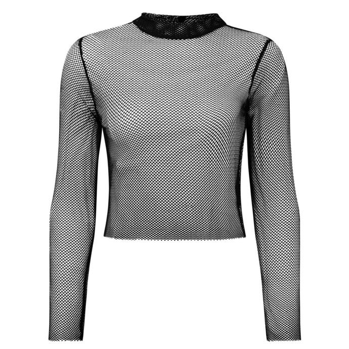 tričko dámské s dlouhým rukávem KILLSTAR - Unruly Fishnet