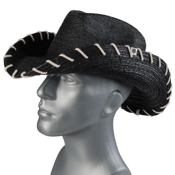 klobouk WORNSTAR - Hellrider HS Black Rocker Cowboy