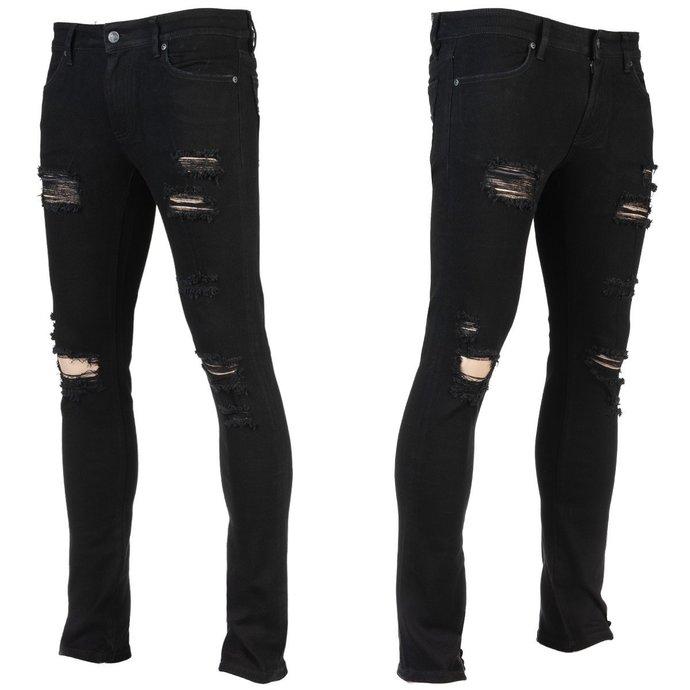 kalhoty pánské (jeans) WORNSTAR - Rampager Shredded - Black