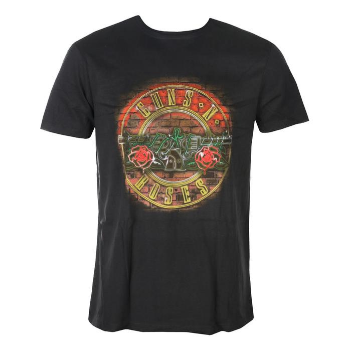 tričko pánské Guns N' Roses - NEON SIGN - CHARCOAL - AMPLIFIED