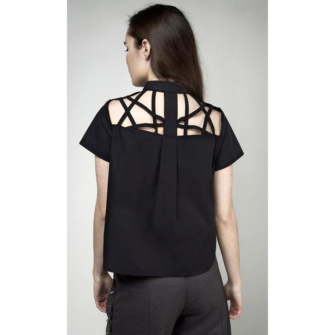 košile dámská DISTURBIA - Abstract Crop - Black