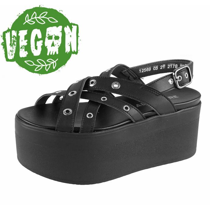 boty dámské (sandály) ALTERCORE - Nitta Vegan - Black