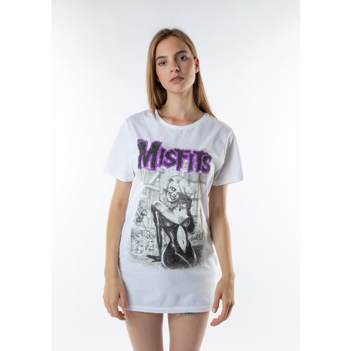 tričko (unisex) AMPLIFIED - Misfits - WHT