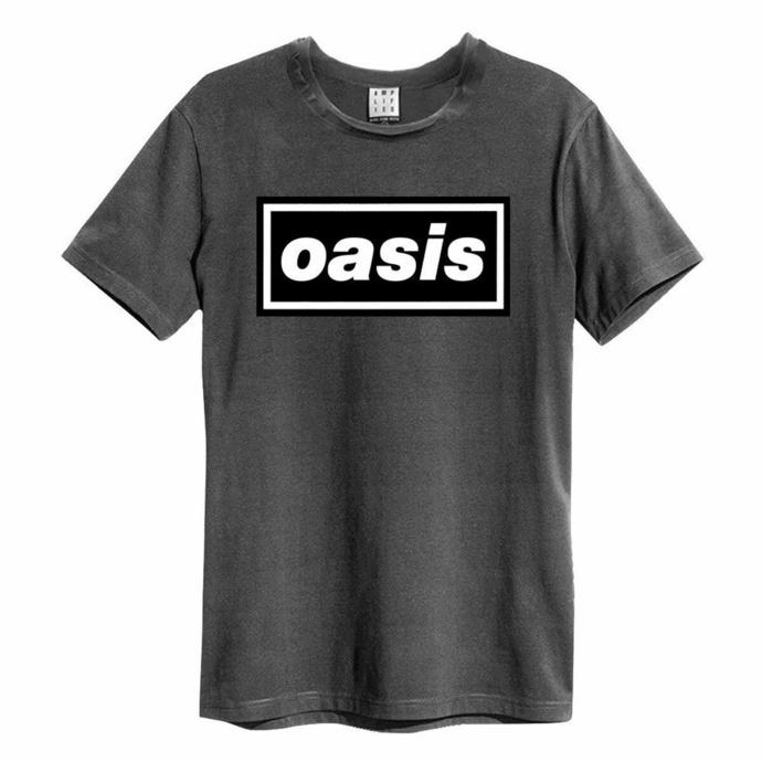 tričko pánské OASIS - LOGO - CHARCOAL - AMPLIFIED