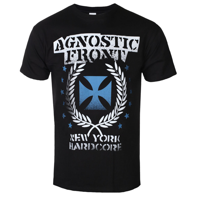 tričko pánské AGNOSTIC FRONT - BLUE IRON CROSS - PLASTIC HEAD