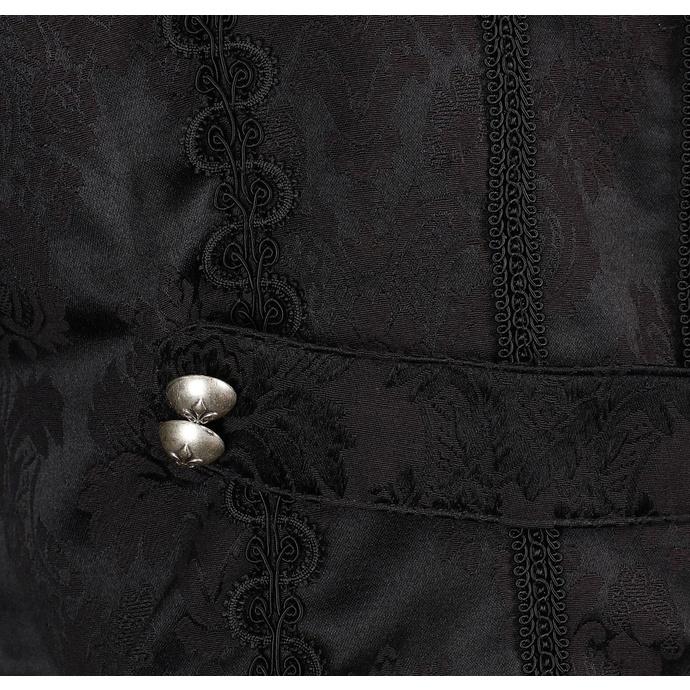 kabát pánský Aderlass - Classic Coat Brocade Black