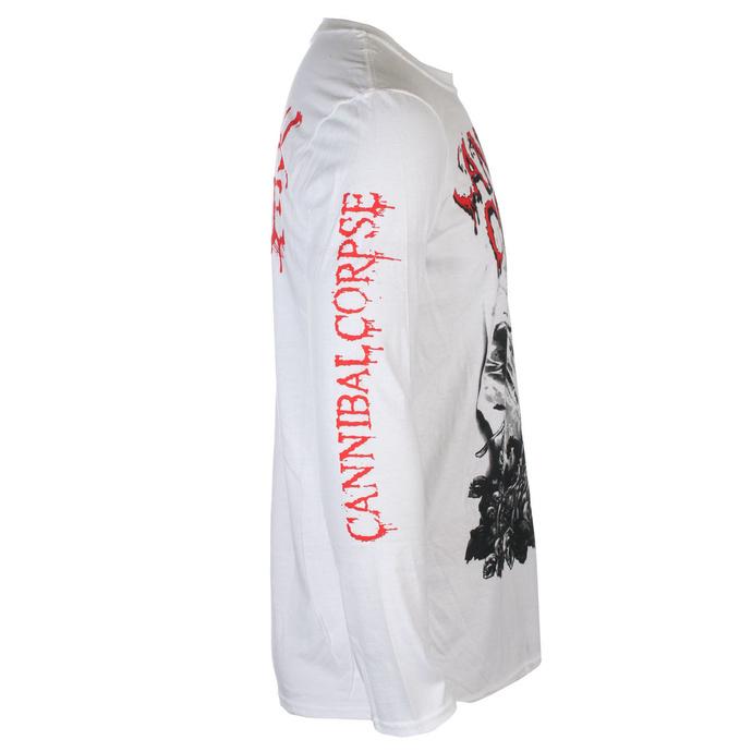 tričko pánské s dlouhým rukávem CANNIBAL CORPSE - PILE OF SKULLS 2018 - White - PLASTIC HEAD