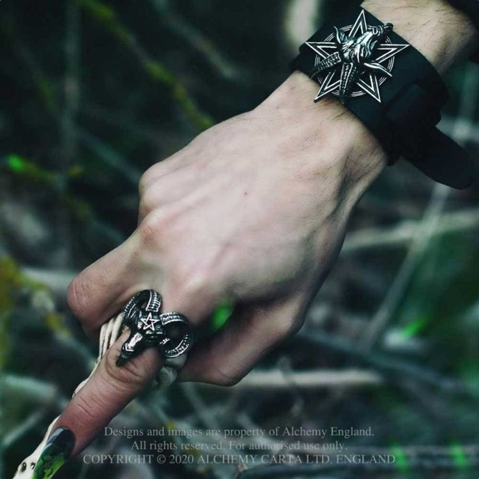prsten ALCHEMY GOTHIC - Baphomet - Pewter