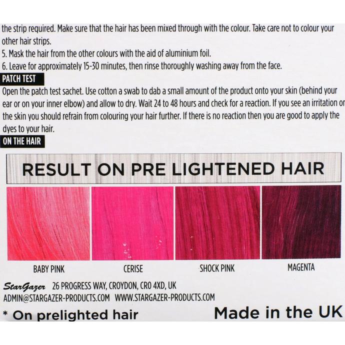 barva na vlasy STAR GAZER - Yummy Colour 4 Color Strips Kit - Pink