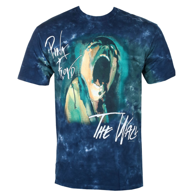 tričko pánské Pink Floyd - SCREAMING FACE - LIQUID BLUE