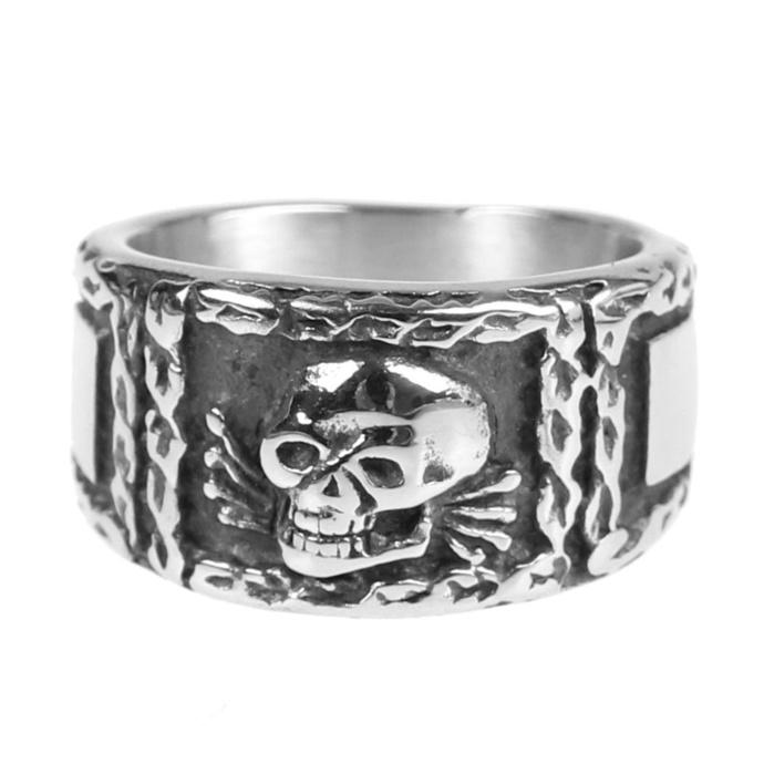 prsten ETNOX - Signet Skull