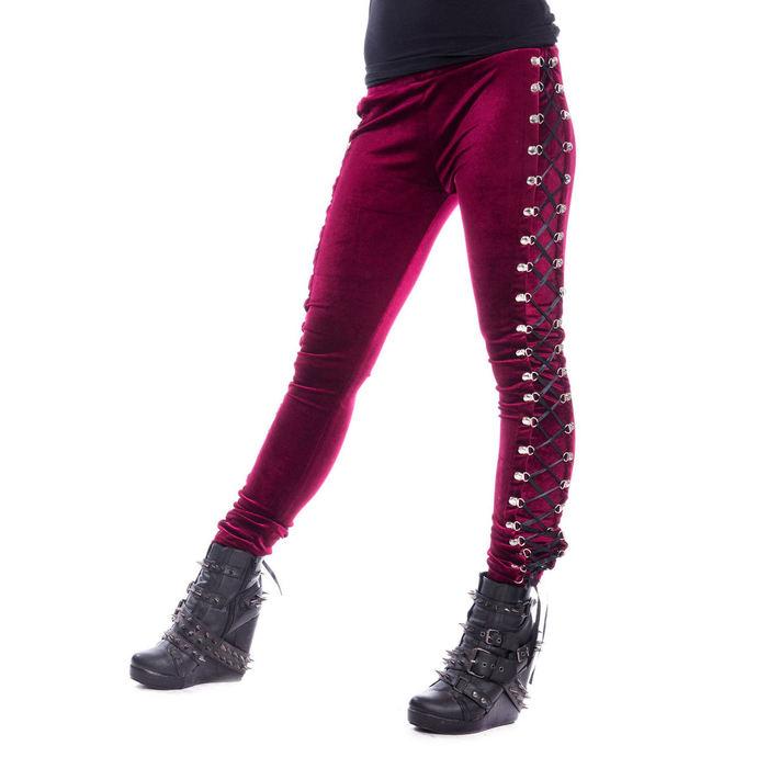 kalhoty dámské (legíny) CHEMICAL BLACK - BEETLE - RED